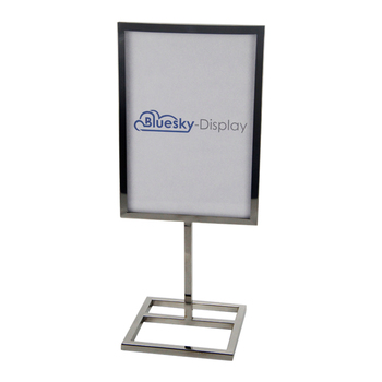 Custom Double Sided A Frame Sign Trade Show A3 A4 Size metal Poster Display Stand