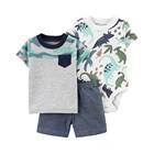 Cotton baby boy clothes sets mixed design baby clothes romper button cartoon cheap price baby clothing clothes
