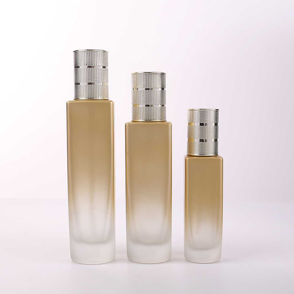 30 мл 50 мл 100 мл 120 мл стеклянная косметическая бутылка для лосьона с бамбуковой крышкой