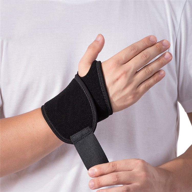 Fashion Breathable Non Removable Adjustable Men Neoprene Wrist Brace For Weightlifting