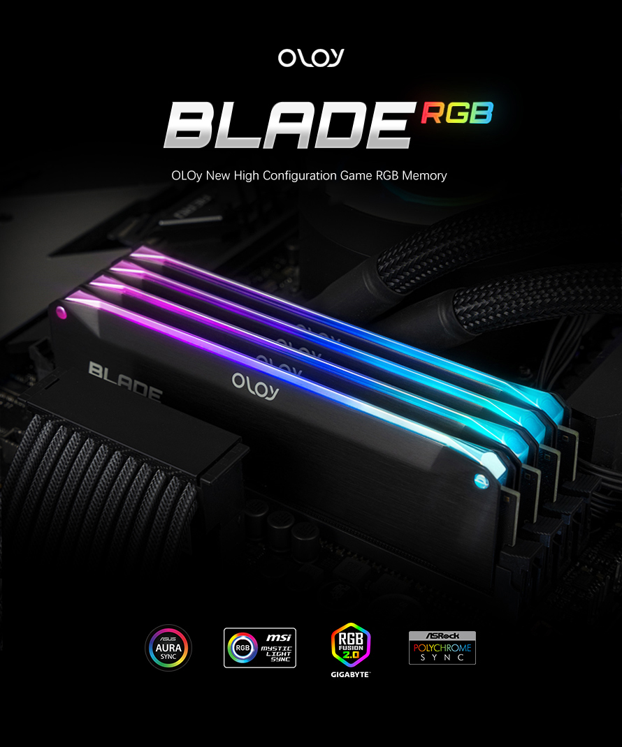 OLOy Blade RGB  hight frequency ddr4 ram 8g 16gb 4000MHz 4266MHz 4400MHz for PC ram ddr4
