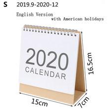 2020 Настольный настенный календарь 2019 Ежемесячный план ежедневный планировщик расписаний kawaii школьные принадлежности(Китай)