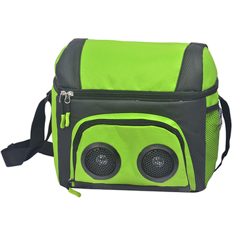 12 Can custom soft cooler bag with speaker FCC certification and BQB License available