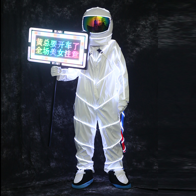 Bar Performance clothing Creative spacesuit Atmosphere props Party Nightclub KTV led stage Luminous clothes