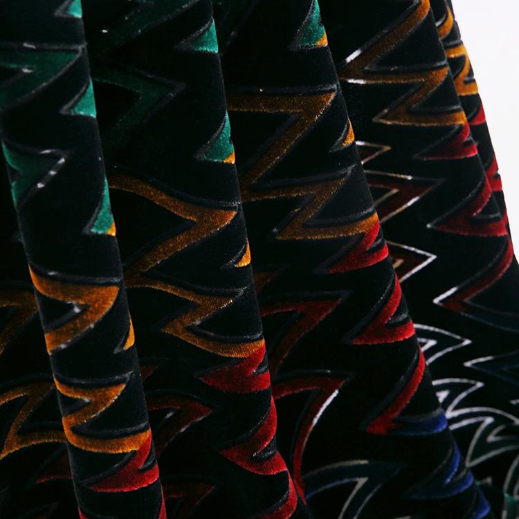Темный цвет 160 г/м2 бархат молния печать шелковая бархатная ткань мягкая