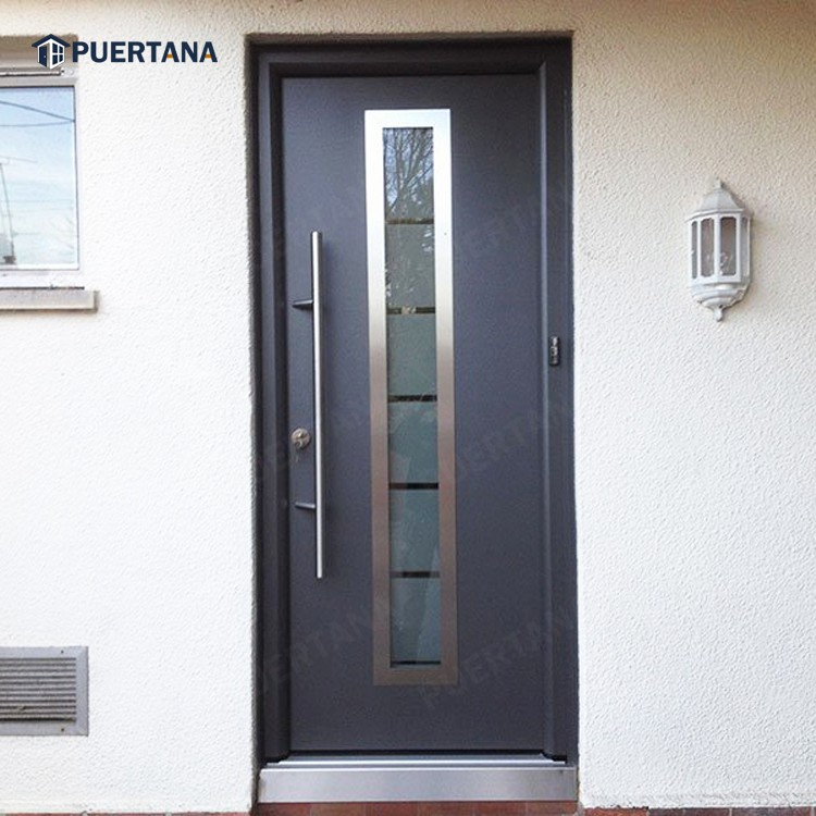 Безопасная Входная входная дверь из нержавеющей стали S304/Современная внешняя Входная входная дверь из нержавеющей стали