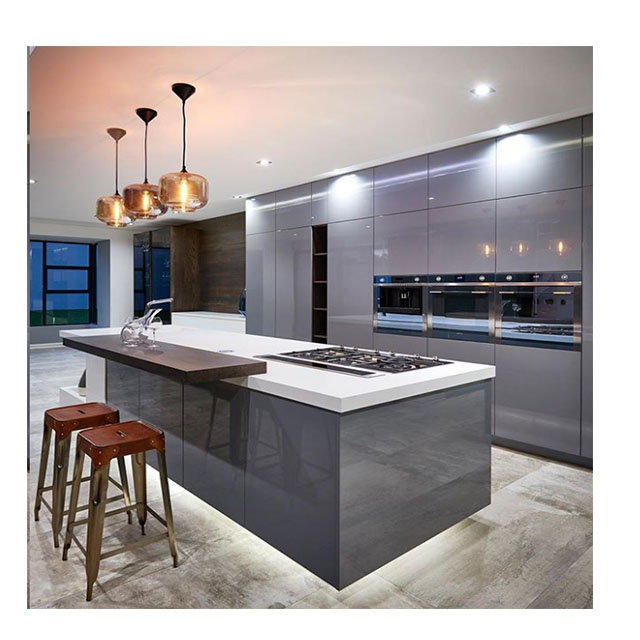 Guangzhou High Quality Free Designs Grey High Glossy Lacquer Design Cabinet Modern Kitchen Island Buy Kitchen Island Design Kitchen Island Kitchen Cabinet Island Product On Alibaba Com