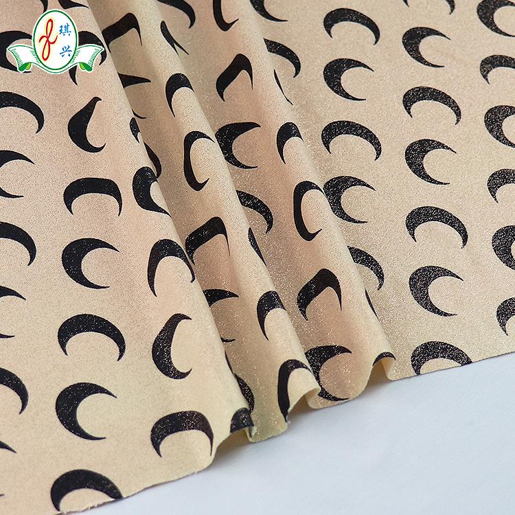 Hot Sale Gold Stamp Foil Print Nylon Lycra Fabric Bronzing Fabric