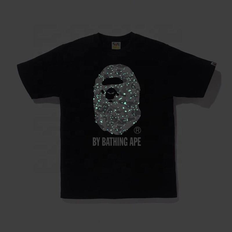 Luminous Teen Boy Shirt Llighting T-Shirt Plus Size T-shirts Men Bape Shirt