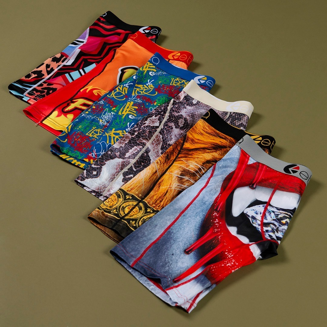 2021 new popular shorts printed ethica underwear casual underwear for men comfortable ethika boxers