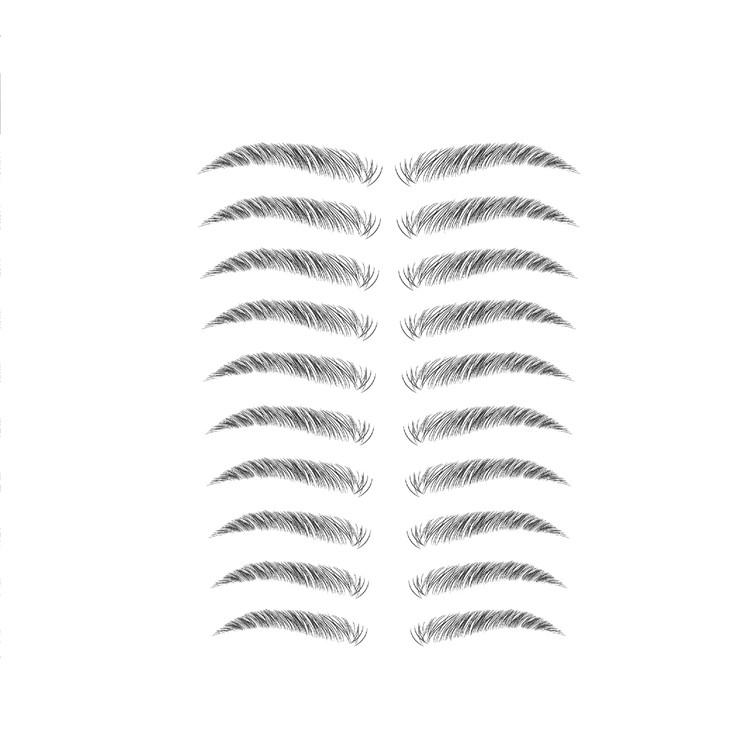 Новинка 2021, женские популярные дизайнерские водонепроницаемые тату-наклейки 6D для бровей, Косметика для макияжа лица