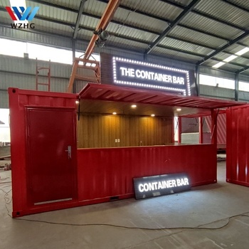 Lowest price luxury customized containment building container house homes bar container coffee shop for sale