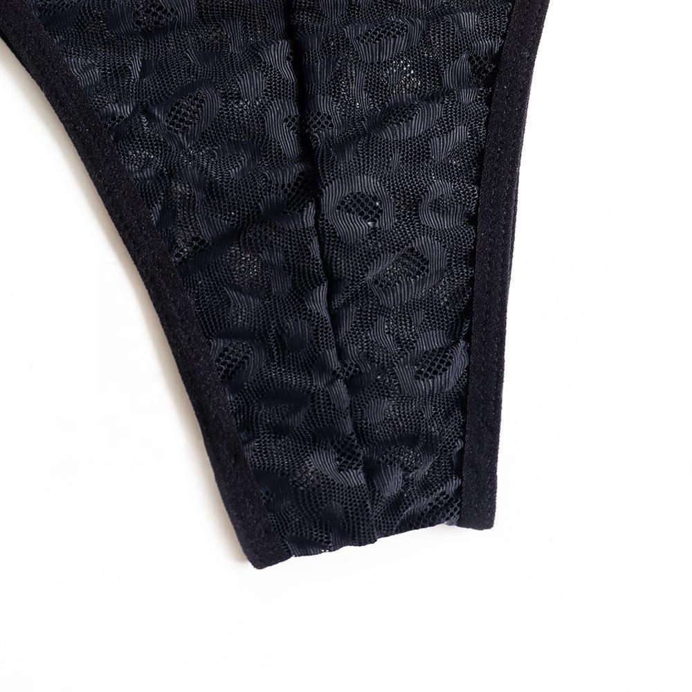 Aifun Hot sale leopard net yarn plus size one-piece lace babydoll underwear