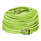 Multi Prong Extension Cable DNT UL CSA Listed High Visibility Multi Color 80 Foot SJT 3 Prong 14awg Extension Cable