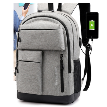 Men's Business Backpack Large capacity USB charging port Laptop Backpack
