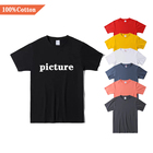 Blank Shirt Wholesale High Quality 100% Cotton Custom Print Graphic LOGO Plus Size Men's O-Neck Blank T Shirt