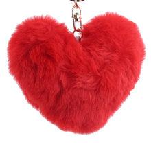 Сплошной цвет любовь плюшевый шар Металлический плюшевый брелок, подвеска для машины девушка ключ орнамент девушки подарки аксессуары для ...(Китай)