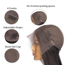 ALIBELE Highlight 1B/27 парик из натуральных волос на кружеве 1B # цвет 13X4 кружевной передний парик al 10-26 бразильские прямые человеческие волосы парик(Китай)