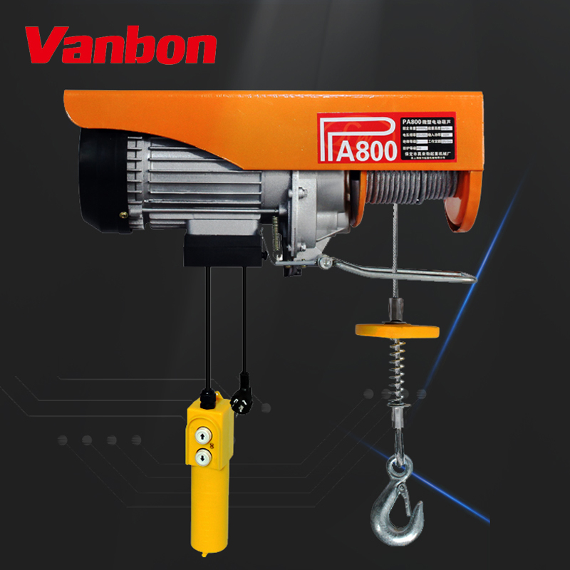 VANBON 2020 best seller good quality PA800 Mini Electric Rope Hoist with factory price
