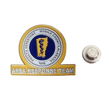 Health Department Area Response Team nameplate engraved iron soft enamel magnetic name badge