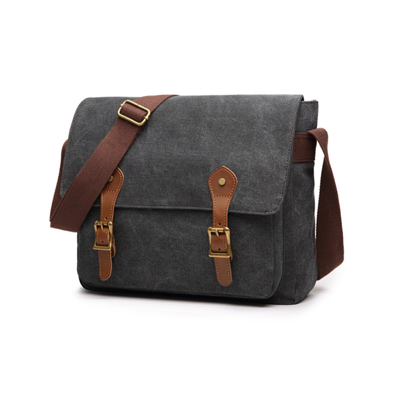 Mens shoulder bag Popular mens Outdoor sling laptop messenger travel canvas shoulder bag