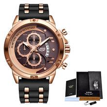 LIGE мужские наручные часы, люксовый бренд, водонепроницаемые, кварцевые, деловые, спортивные, хронограф(Китай)