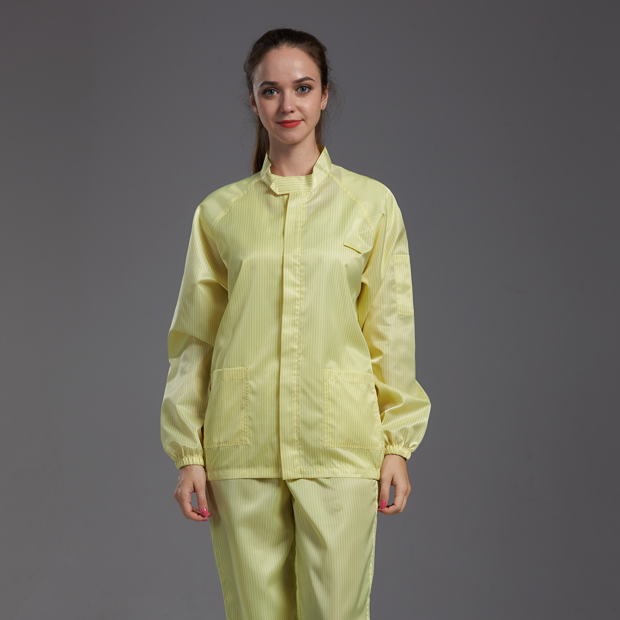 Polyester reusable non-sterile cleanroom clothing set top bottom non-sterile waterproof anti-static 95gsm - KingCare | KingCare.net
