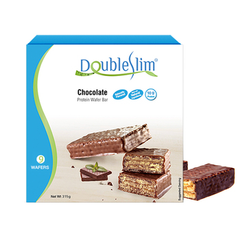 Factory Wholesale Protein Wafer bars Chocolate Low carbs Low fat Weight Management Diet Snack Biscuit