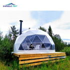 Factory Price Luxury Hotel Camping Prefab Tents Resort Waterproof Glamping Geodesic Dome House Tent