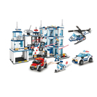 Building Blocks Car Build Block COGO 114 PCS ABS Kids Car Helicopter Plastic Bricks Police Station Building Blocks City Educational Toys For Children