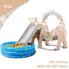 Pink slide swing with ball pool