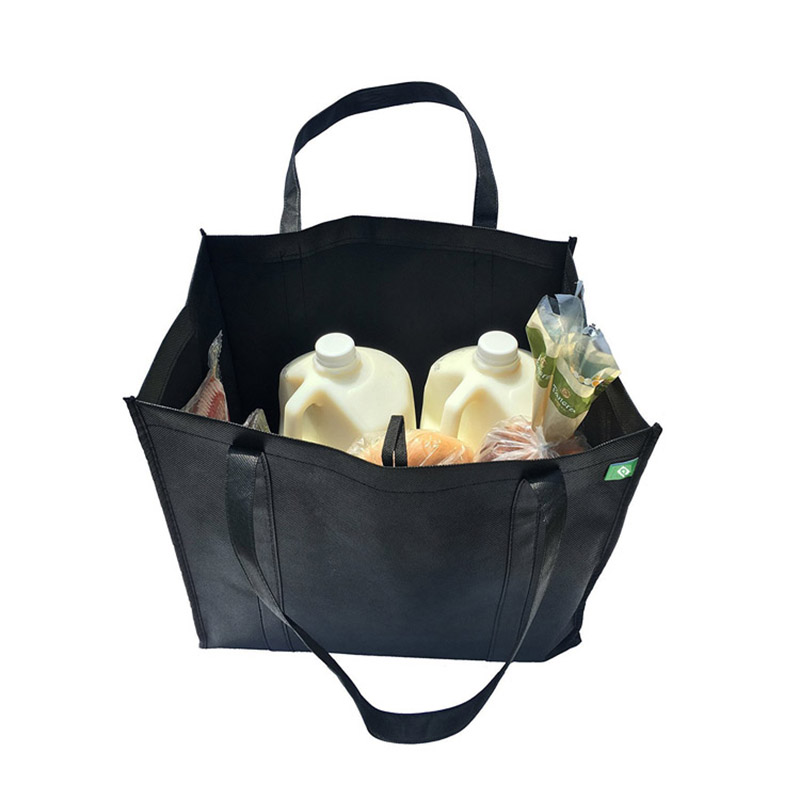Black shopping bag Hot sale Wholesale Durable reusable storage tote Outdoor shopping bag