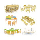 Kid Kindergarten Furniture Sale Primary Classroom Center Set Kid Modern Wood Child Pre School Cheap Wooden Nursery Preschool Kindergarten Daycare Furniture