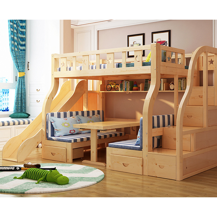 High Quality Home Use Bedroom Imported Timber Multifunction Bunk Bed For Kids Buy Kids Used Furniture Wooden Bed Bunk Bed With Desk Bunk Bed Bedroom Product On Alibaba Com