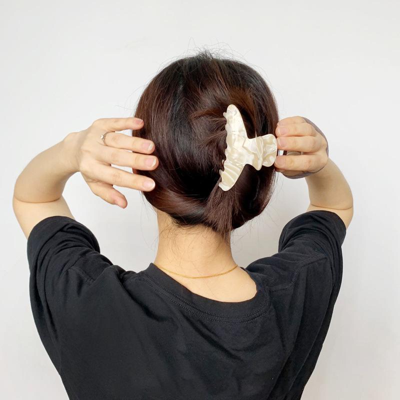 Ins большой Черепаховый Акриловый ацетат банана 8,5 см заколки для волос для женщин