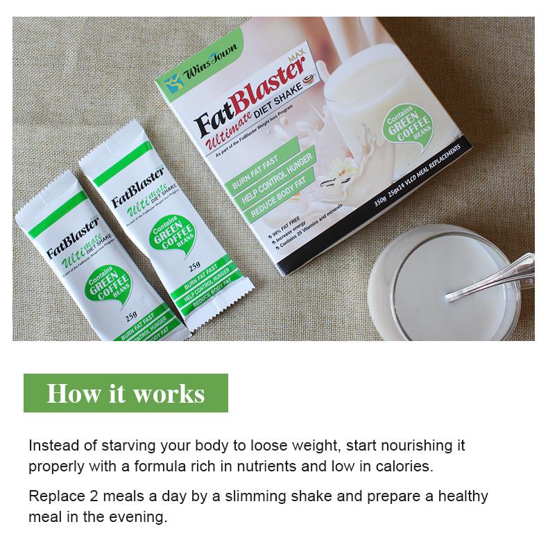 fat blaster slimming diet milkshake fast Weight loss meal replacement shakes Vanilla