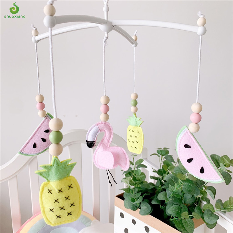 Nordic Pastel Baby Nursery Mobile Felt Plane Star Cloud Toy Baby Room Decor Accessory Ceiling Crib Cot Mobile Baby Shower Gift