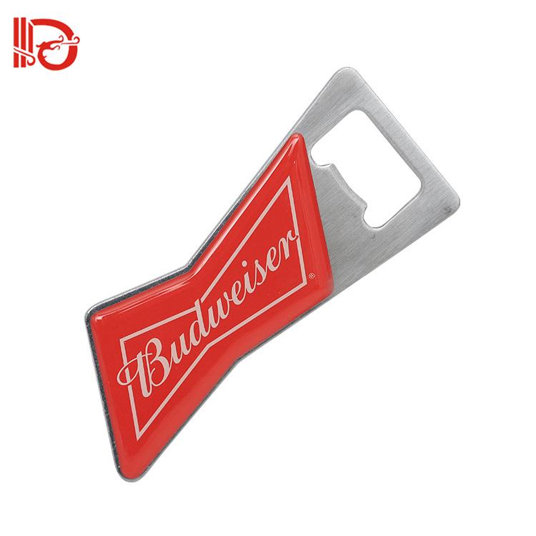 China Customized factory zinc alloy bottle shape iron metal bottle opener beer opener