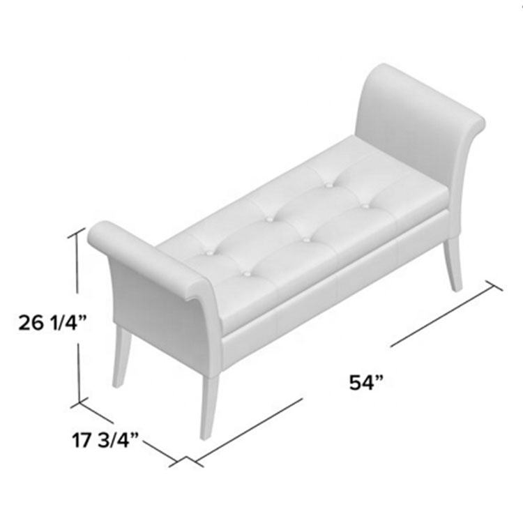 White bedroom sitting down upholstered upholstered storage bench