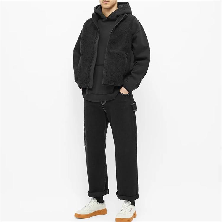 Custom winter stand collar fleece sherpa vest for men