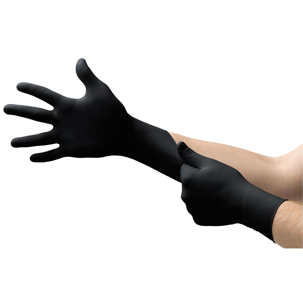 Sale Hot Disposable Black Non-medical Nitrile Gloves Wholesale Sterile Black Gloves Nitrile