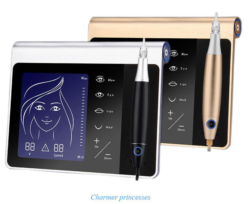 Charmer Princesses Semi Wireless Digital Rechargeable Microshading Permanent Makeup Eyebrow lip Microblading PMU Machine