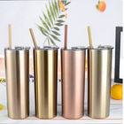Coffee Custom Insulated Coffee Double Walled Tumbler Cups Wholesale Rose Gold 20oz Stainless Steel Tumbler With Straw