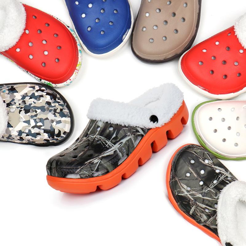 2021 Custom Logo Women Nursing Warm Clog Shoe EVA Classic Slip On Sandals Platform Winter Fur Clogs