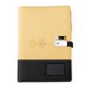 Gold wireless power bank notebook+pen+usb
