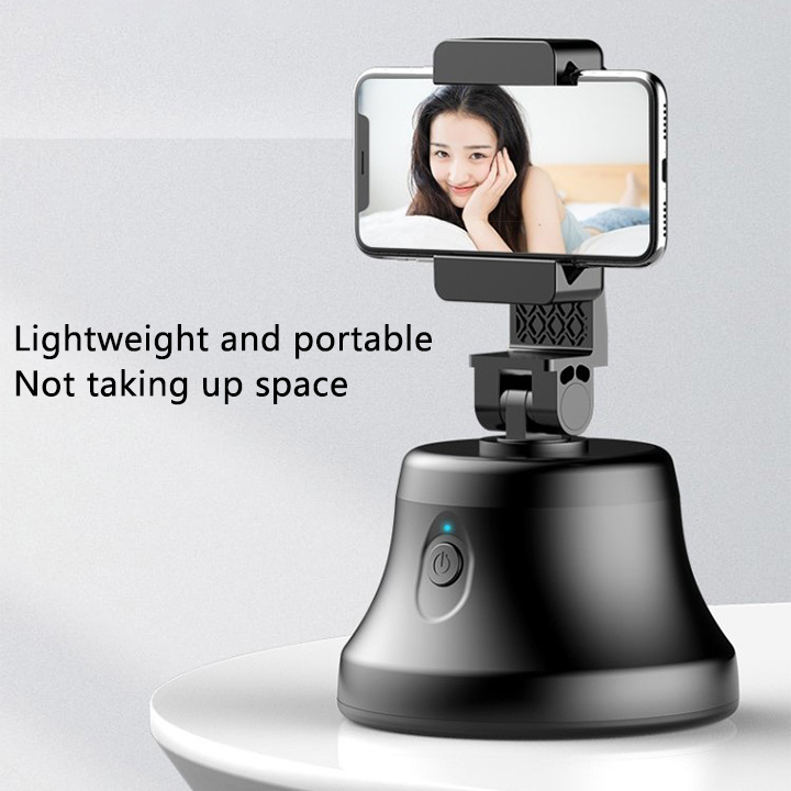 Best selling portable smart shooting automatic face rotating 360 object tracking mobile phone holder