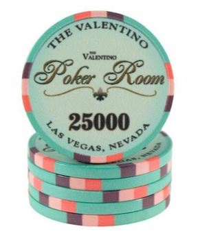 Comfortable 10G Custom Ceramic VALENTINO POKER CHIPS