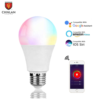 Tuya Alexa 10W E27 B22 Home Dimmable WiFi LED RGB+White Lamp Light Smart Wifi Bulb