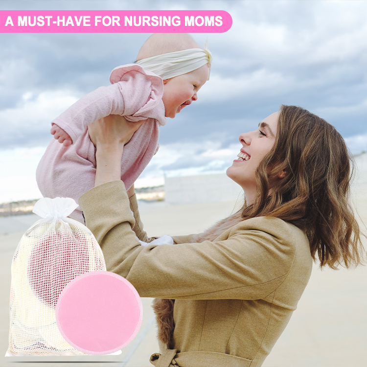 Famicheer 4 layers 3d organic bamboo nursing reusable pads breastfeeding bra pads