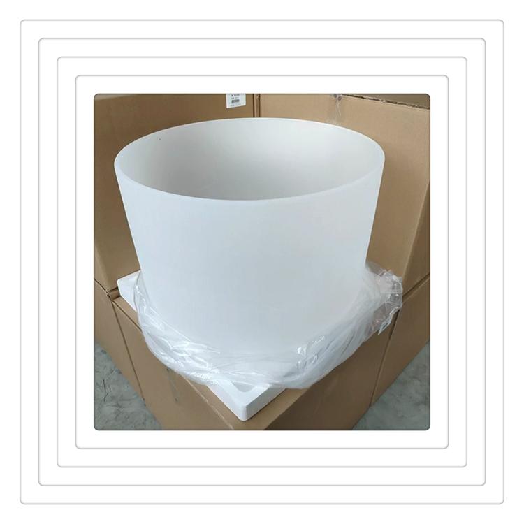 Поющая чаша из непрозрачного молочного хрусталя, 24 дюйма
